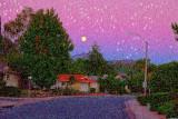 Moon a la Van Gogh