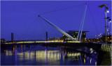 Newport City Footbridge at twilight