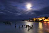 Old Pier in Moonlight