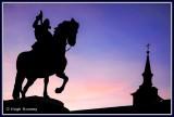 Spain - Madrid - Plaza Mayor - Statue of King Philip 3rd