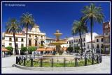 Spain - Merida - Plaza de Espana - General vista