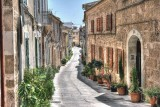 Alcudia with their flowered lanes