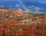 Rainbow over Fairyland Trail