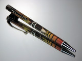 Easton 2117 Quattro Camo Arrow Slimline Twist Ballpoint Pen Black Titanium Hardware