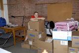Sammy moving in to her dorm.