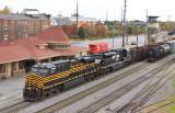 NKP 8100 passes the CNO&TP depot at Danville KY