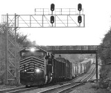 NS 124 at North Wye, with NKP 8100 on the point