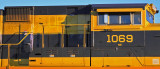 Dust Tagging on the side of NS 1069 after a trip on the BNSF