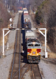 NS 117 climbs out of Oneida TN with DL&W 1074 on the point