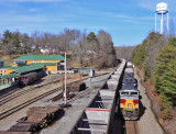 NS 117 passes the K&T depot at Stearns KY