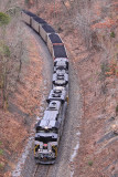 P&L LSX1 passes through the big cut which is the daylighted remains of the ICRR tunnel near Rosine KY