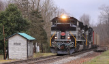 NYC 1066 on the point of a P&L Northbound passes through Rosine KY, the birthplace of Bluegrass Music