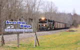 Northbound P&L LSX1 passes the entrance to the Bill Monroe homeplace near Rosine KY