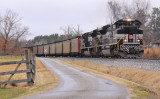 NYC 1066 leads a TVA coal train away from the Armstrong mine in Western Kentucky