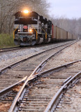 NYC 1066 with Northbound loads at Horse Branch Kentucky