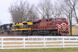 A Heritage duo leads NS 111 East at Vanarsdale KY