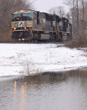 NS 111 with a SD70M leadng at Lake Wells