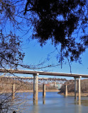 The Bridges of Burnside, as seen from the North shore of Lake Cumberland