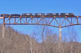 Northbound 174 crosses the New River Bridge
