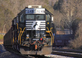 NS 1648 leads a Herzog ballast train at Burnside