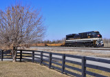 NS I-23 cruises past the Waddy Firehouse on a warm winters day