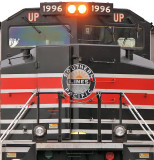 The only sun to be seen on this cold winter day  is on the SP logo on the nose of UP 1996