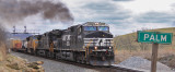NS 224 gets back on the move at Palm, with a (fairly) new GE putting out more smoke than a 50 year old Alco.