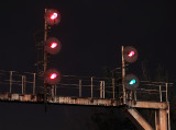 The GRS searchlight signals at Junction City lined up for train 111