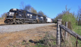 NS 375 comes off the wye and heads West for Louisville with a pair of former CR SD60's for power