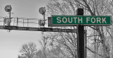 Unmistakeably Southern The Southfork station sign and signal bridge made out of freight car parts are as Southern as it gets
