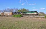 NS 23G rolls East through the farmland just East of Harrodsburg, KY
