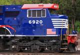 NS SD60E #6920, The Veterans tribute locomotive, at Burnside Ky