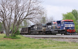 NS 6920, the Veterans unit, leads train 179 South at Burgin Ky