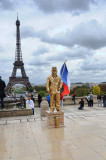 Mime in Front of Eiffel Tower