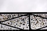 Bridge Across Seine River with Love Locks