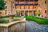 Parador courtyard, Sigüenza