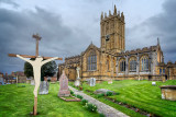 Minster and crucifix, Ilminster