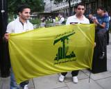 Holding Hezbollah Flag