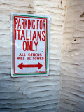 Parking for Italians Only!