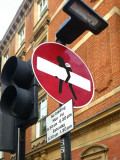 Stealing No Entry sign