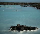 White car_Blue Lagoon