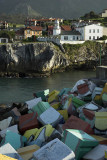 Sculptural installation at Llanes