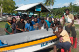 Speedboat crews at Namatanai
