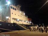 NEW CALEDONIA: Four a.m. on the dockside in Noumea (mobile phone pic)