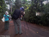 Birdwatchers raring to go...  (mobile phone pic)