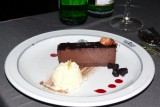 A wonderful chocolate mouse cake closed off the meal