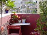 The balcony at La Casa Rosa