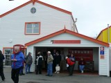 The visitor's center on the island