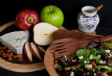 Spring Mix with Cranberries, Apples, Nuts,  and Blue Cheese with Sherry Vinaigrette