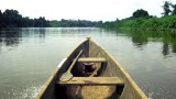 Pirogue on the Nyanga River, South Gabon. 30/5/98.